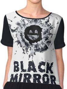 Black Mirror Series Shirt Chiffon Top