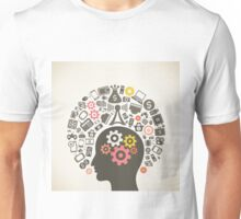 Brain and technology Unisex T-Shirt
