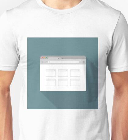 Browser flat icon2 Unisex T-Shirt