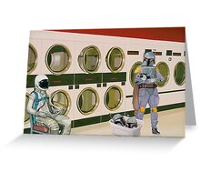 In the Laundromat with Boba Fett Greeting Card