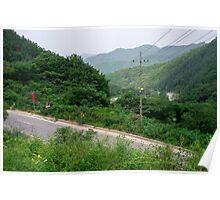 The Mountain Road Near Sangjung-ri, South Korea Poster