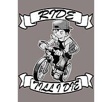 Pokemon Ride Till I Die (Different Font) Photographic Print