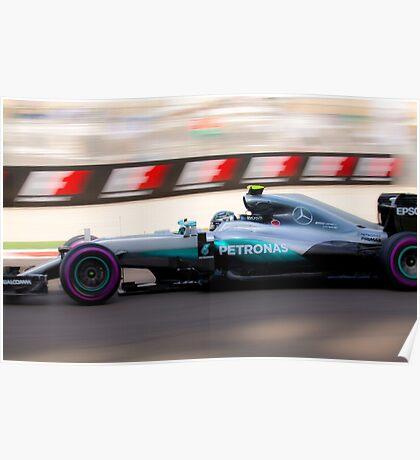 Nico Rosberg Formula 1 World Champion 2016 Poster