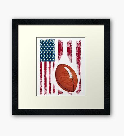 Football sport flagge usa amerika stolz team nba touchdown Framed Print