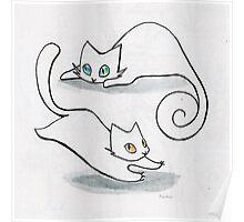 Cat Circle Poster