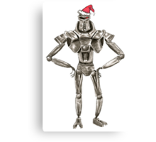 Christmas Cylon in a Santa Hat Canvas Print