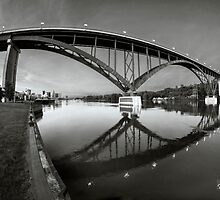 High Bridge In Black And White by Jason  Crespin
