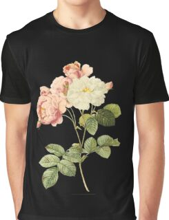 White and pink rose Graphic T-Shirt