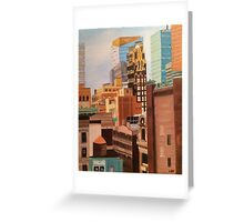NYC Skyscraper Painting Greeting Card