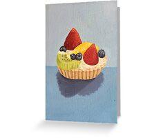 Fruit Tart Painting Greeting Card