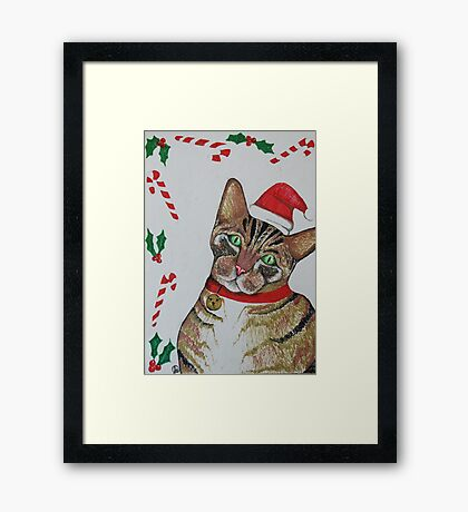 Christmas Kitty Framed Print