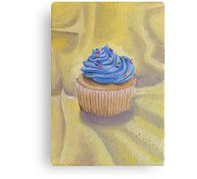 Vanilla Cupcake with Sprinkles Painting Canvas Print