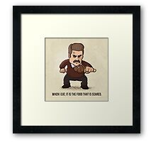 When I eat, it is the food that is scared Framed Print