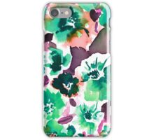 Zoe Floral Sea Green iPhone Case/Skin