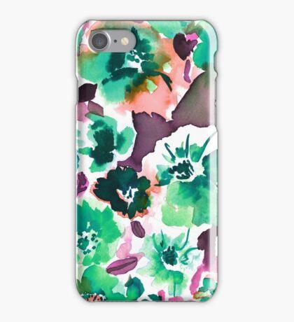 Zoe Floral Sea Green iPhone Case/Skin