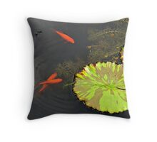Three Little Fishes Throw Pillow