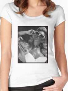 Chanel West Coast glasses Women's Fitted Scoop T-Shirt