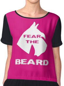 Fear The Beard Schnauzer Chiffon Top