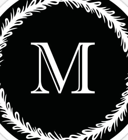 Monochrome Monogram M Sticker