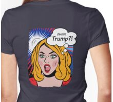 Anti-Trump pop art image Womens Fitted T-Shirt