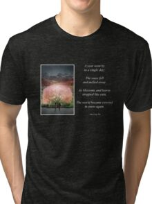 A year went by in a single day Tri-blend T-Shirt