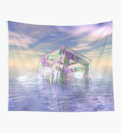 Floating Fractal Wall Tapestry