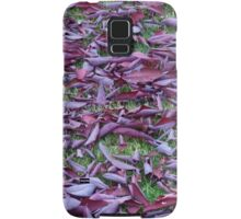 Scattered Plum Tree Leaves  Samsung Galaxy Case/Skin