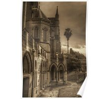 St. Mary's in sepia Poster