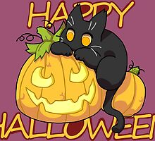 Halloween Black Cat by Zinge