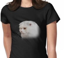 Soft and white like snow with a drop of golden sun Womens Fitted T-Shirt