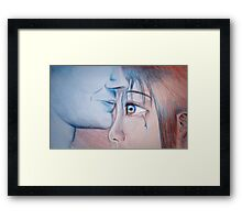 In mad rage I was blind - then you came and brought the light Framed Print