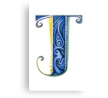 The Letter J Canvas Print