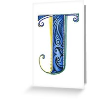The Letter J Greeting Card