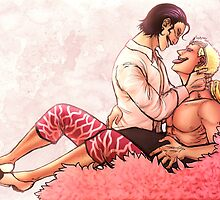 Doflamingo and Sir Crocodile  by Deer-Head-Xiris