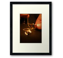 Puppy on a Neckleash Framed Print