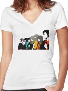 Anime Shirt Women's Fitted V-Neck T-Shirt