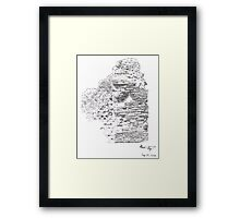 A remain from the Temple of Jupiter (Cumae, Italy) Framed Print