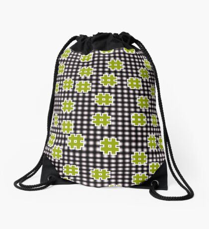 Octothorpes Drawstring Bag