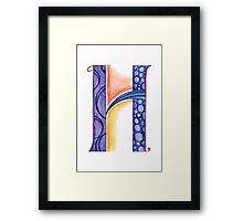 The Letter H Framed Print