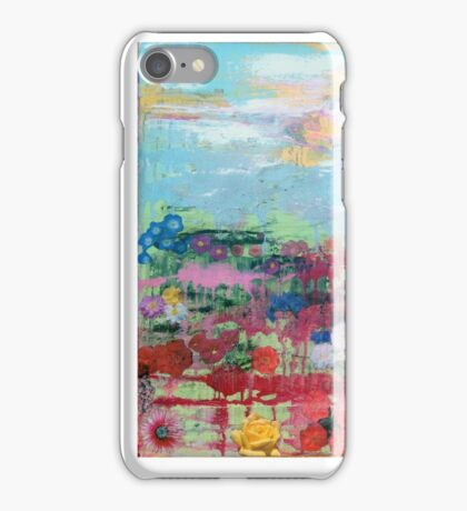 Bloodflowers painting / Collage iPhone Case/Skin