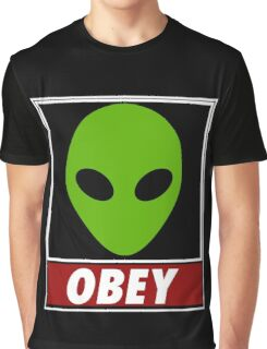 Alien Obey Graphic T-Shirt