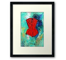 Fire Red Corset Framed Print
