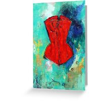 Fire Red Corset Greeting Card