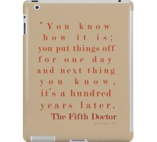 A Hundred Years Later iPad Case/Skin