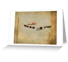 Clothes Drying on the Line Greeting Card