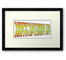 Happy Witness the Birth of Christ Day Logo Framed Print