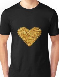 HEART OF HEARTS (GOLD CRUMPLED) Unisex T-Shirt