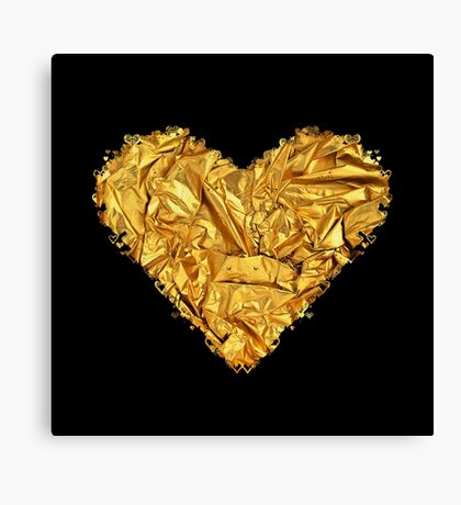 HEART OF HEARTS (GOLD CRUMPLED) Canvas Print