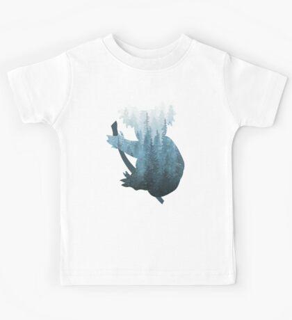 Misty Forest Koala Bear - Blue Kids Tee