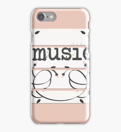Music typography in pieces iPhone Case/Skin